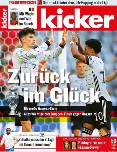 Cover: Kicker Sportmagazin No 50 vom 21  Juni 2021