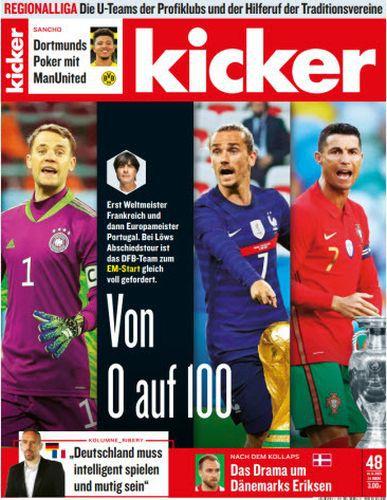 Cover: Kicker Sportmagazin No 48 vom 14  Juni 2021