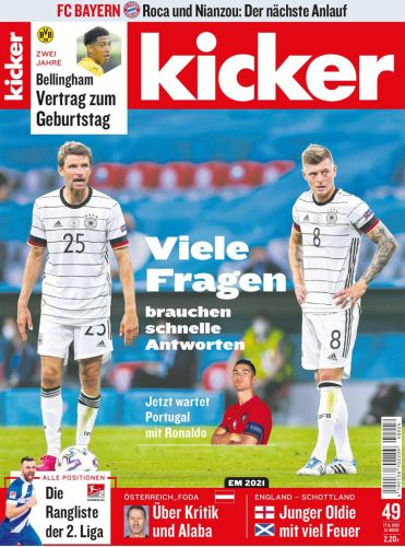 Cover: Kicker Sportmagazin No 49 vom 17  Juni 2021