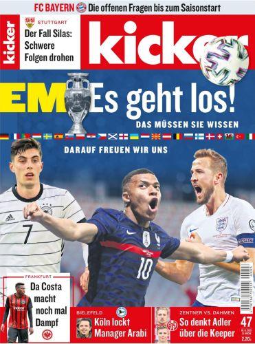 Cover: Kicker Sportmagazin No 47 vom 10  Juni 2021