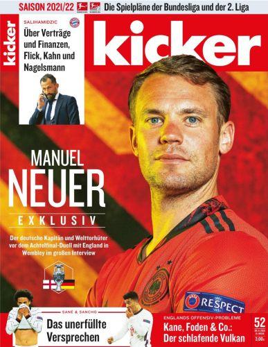 Cover: Kicker Sportmagazin No 52 vom 28  Juni 2021