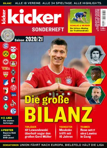 Cover: Kicker Sportmagazin Sonderheft Saison 20-21 Juni 2021