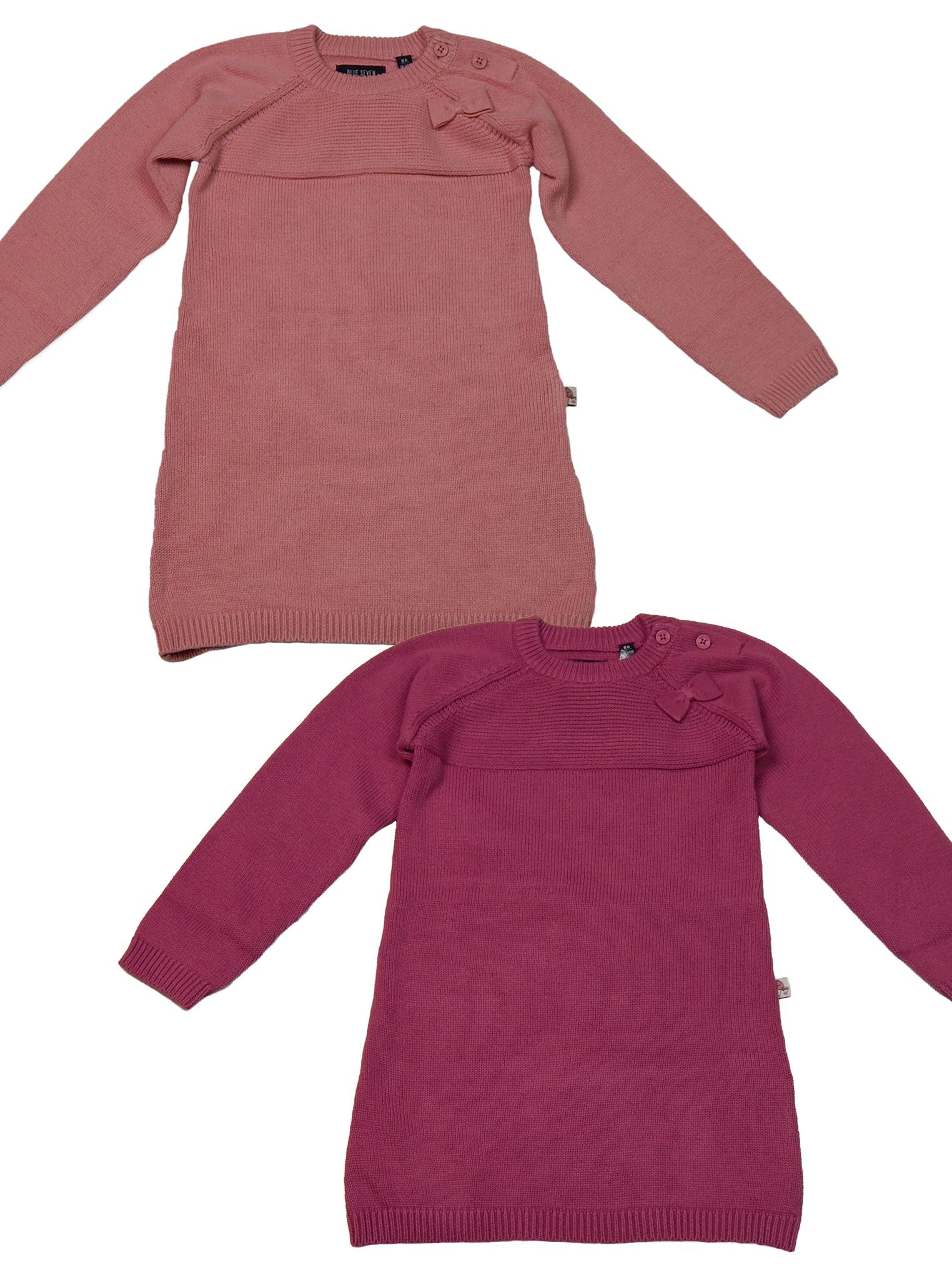 Kleid Mädchen Strickkleid Größe 62 68 74 80 86 Baby Dress Langarm