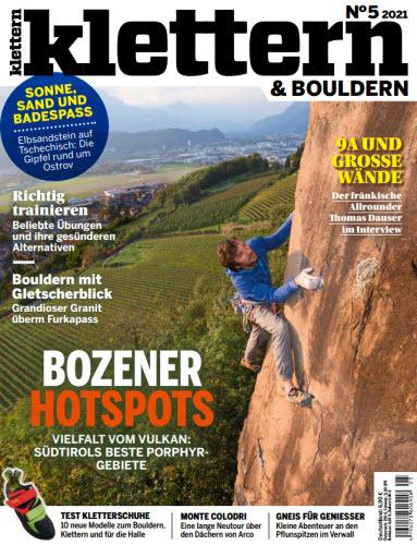 Cover: Klettern und Bouldern Magazin No 05 2021