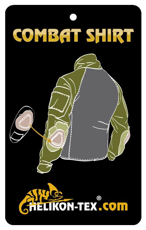 HELIKON COMBAT SHIRT A-TACS® AU with Elbow Pads TACTICAL Helikon KO-CS2-PO-40.
