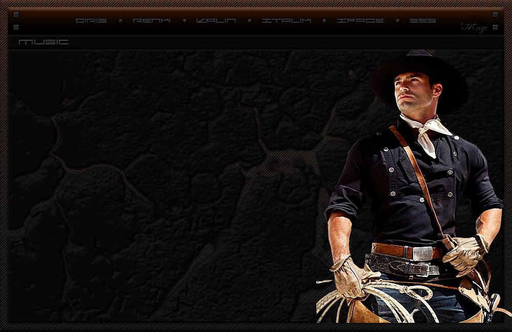 Kovboy erkek tema