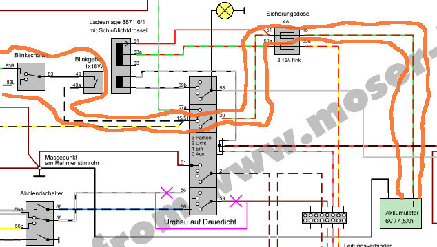 blinker gehen nicht schwalbe kr 51 2 e. Black Bedroom Furniture Sets. Home Design Ideas