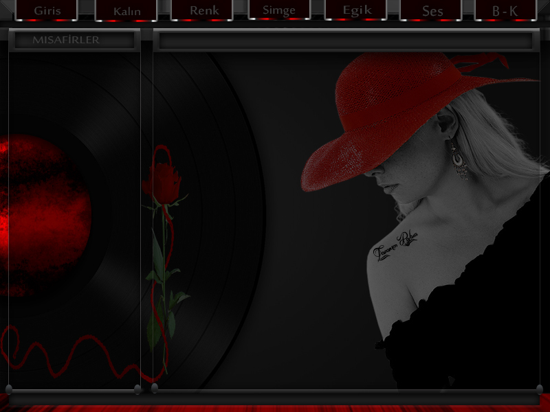 Flatcast radyo tema RABİA dan kırmızı sapkalı kız