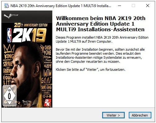 NBA 2K19 20th Anniversary Edition Update 1 MULTi9 - x X