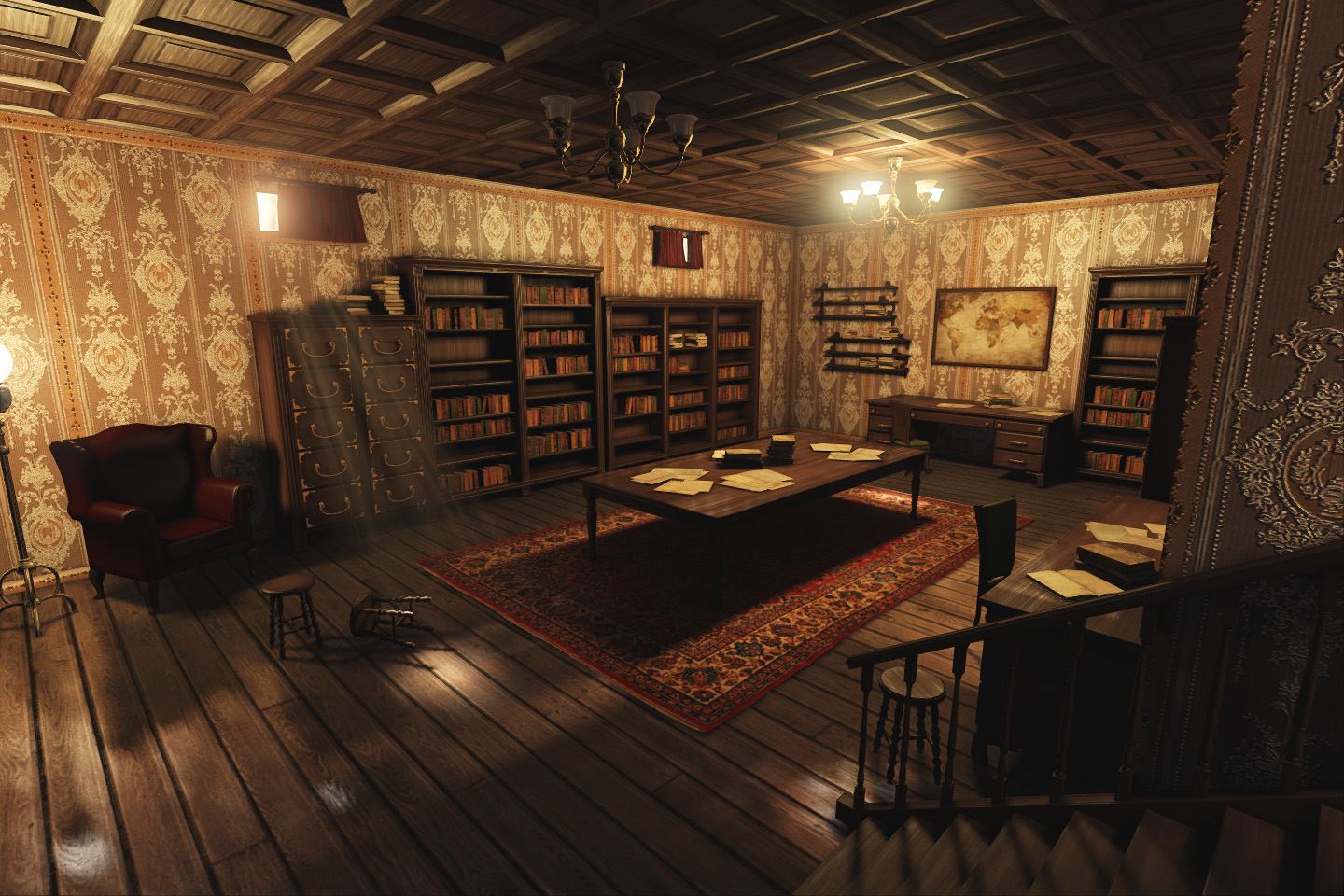 3D Modeling & Texturing: [UDK] Studies Room / Library