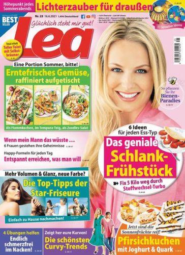 Cover: Lea Frauenmagazin No 25 vom 16  Juni 2021