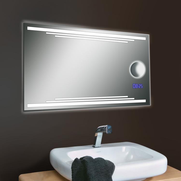 led badspiegel wandspiegel lichtspiegel badezimmerspiegel bad spiegel ebay. Black Bedroom Furniture Sets. Home Design Ideas