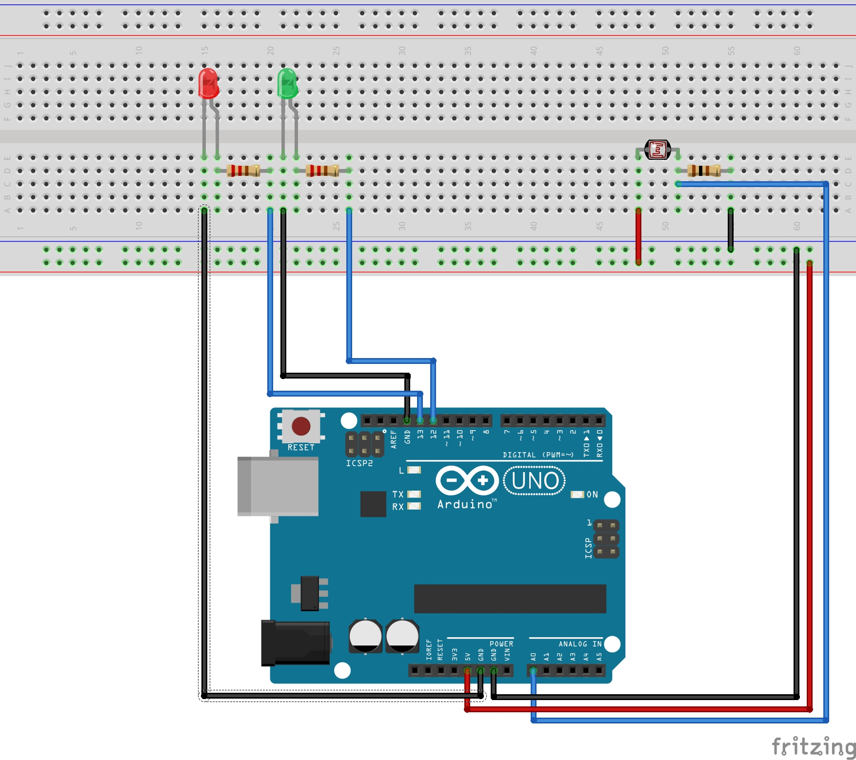 Ambient Light Sensor Using Photo Resistor and LED Lights! - Hackster.io