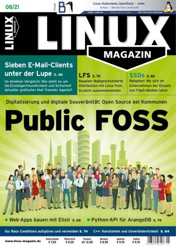 Cover: Linux Magazin No 08 August 2021