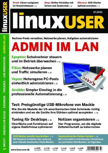 Cover: LinuxUser Magazin No 07 2021