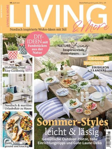Cover: Living and More Magazin No 07 Juli 2021