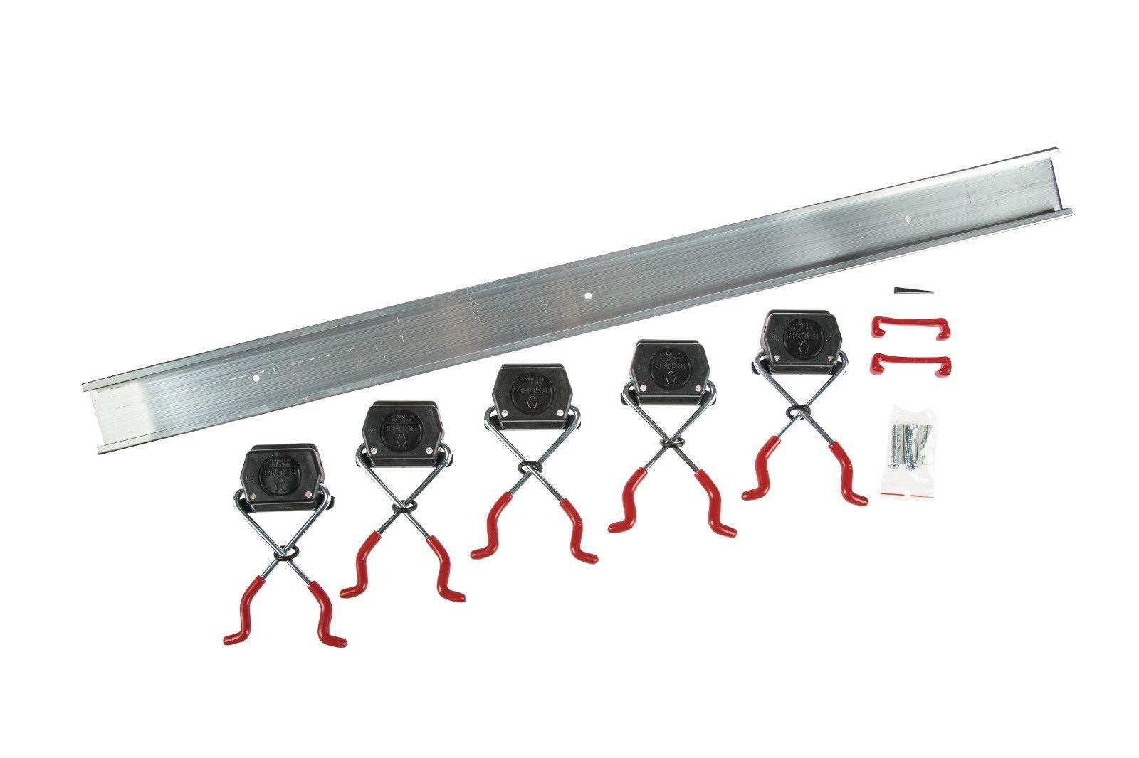 Bruns Alu Geräteleiste 0,5m 3 Halter Gerätehalter Werkzeugleiste Werkzeug Besen