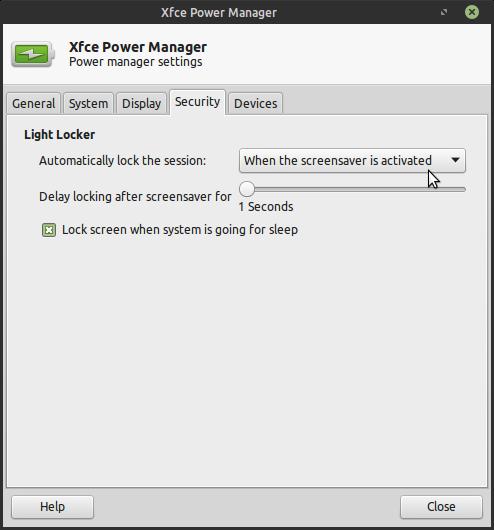 Light-locker not working correctly on Mint 18 3 xfce (in