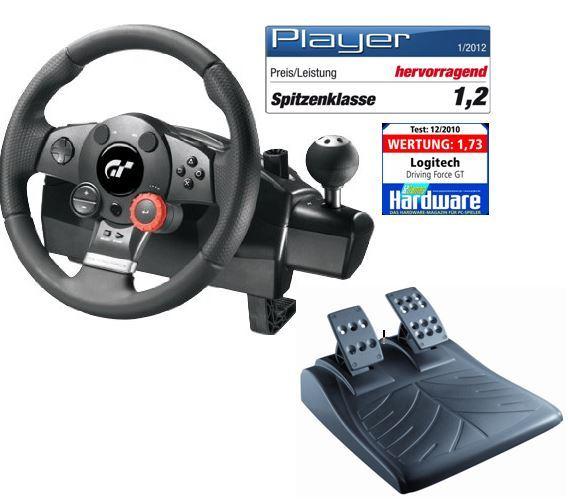 Logitech Driving Force GT   FFB Rad  und Pedalsatz für 88€