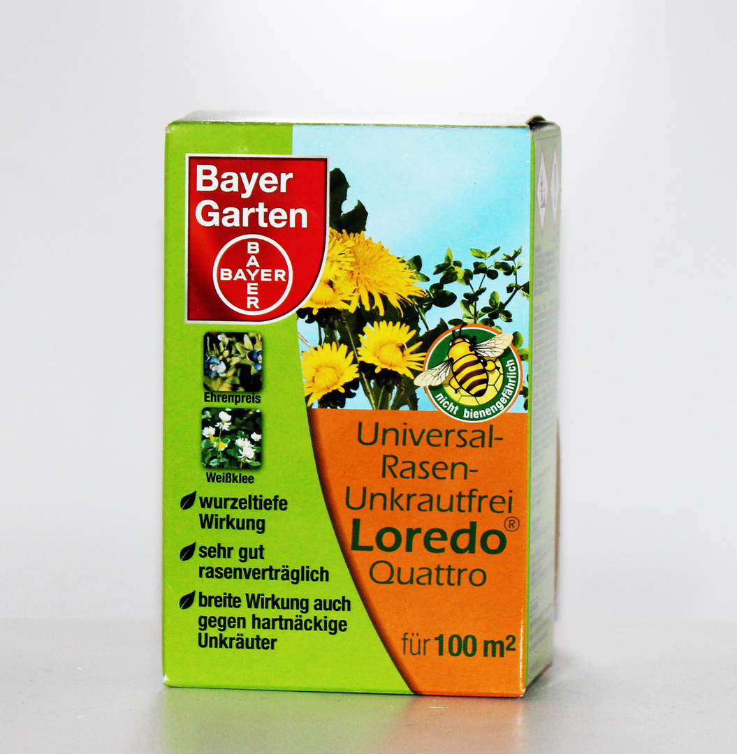 universal unkraufrei loredo rasen rasenunkrautfrei bayer garten 100 ml ebay. Black Bedroom Furniture Sets. Home Design Ideas