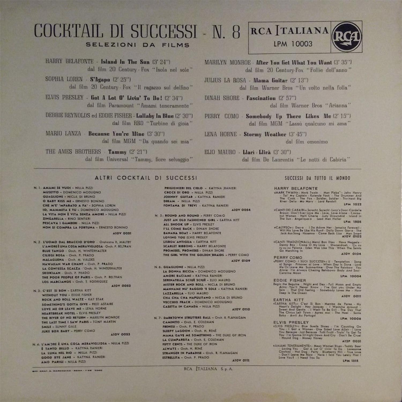 COCKTAIL DI SUCCESSI N°8 Lpm10003bo8qw3