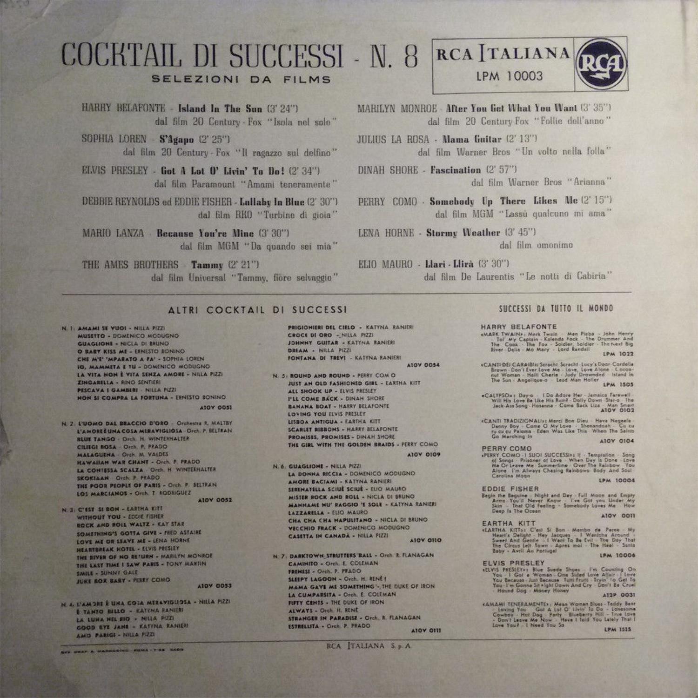 COCKTAIL DI SUCCESSI N°8 Lpm10003fcerj2