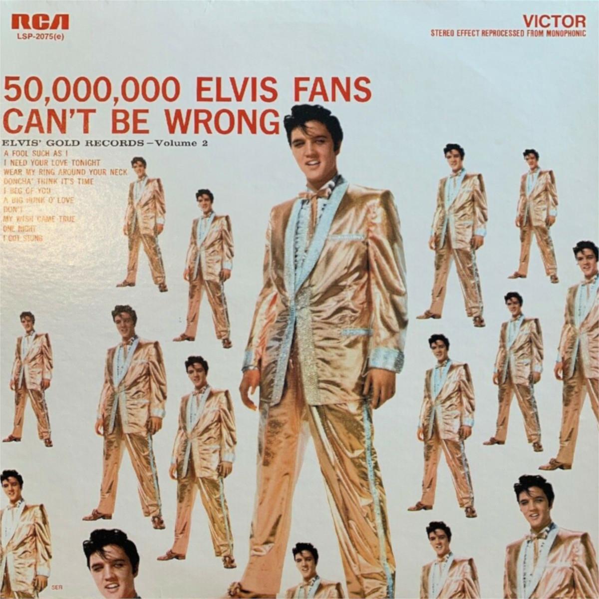 ELVIS' GOLD RECORDS VOL 2 Lsp-2075e-76-131k6a