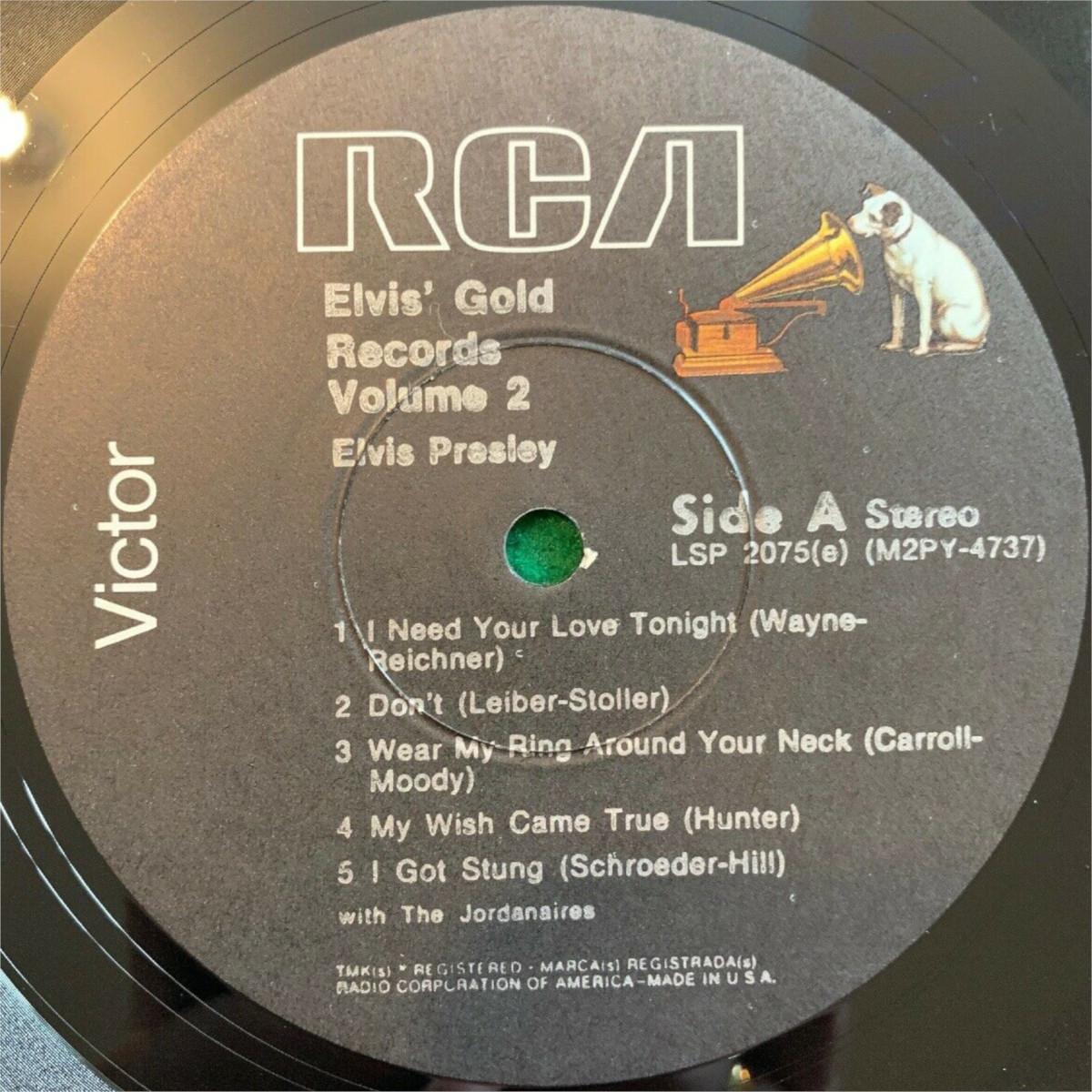 ELVIS' GOLD RECORDS VOL 2 Lsp-2075e-76-3drjzg