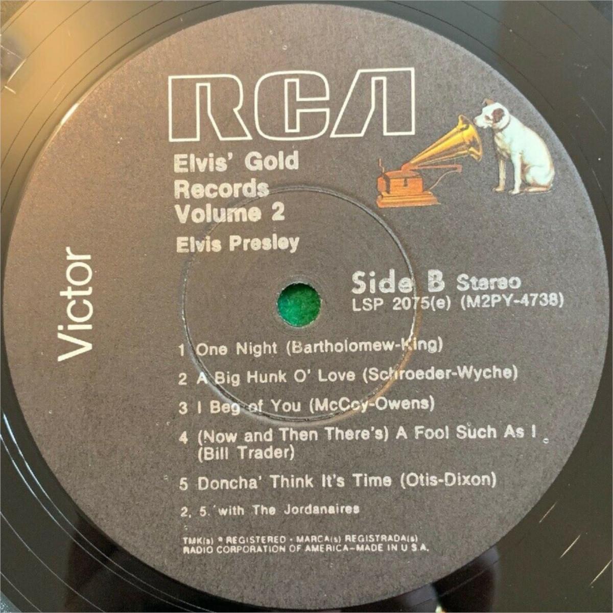 ELVIS' GOLD RECORDS VOL 2 Lsp-2075e-76-4ytj6r