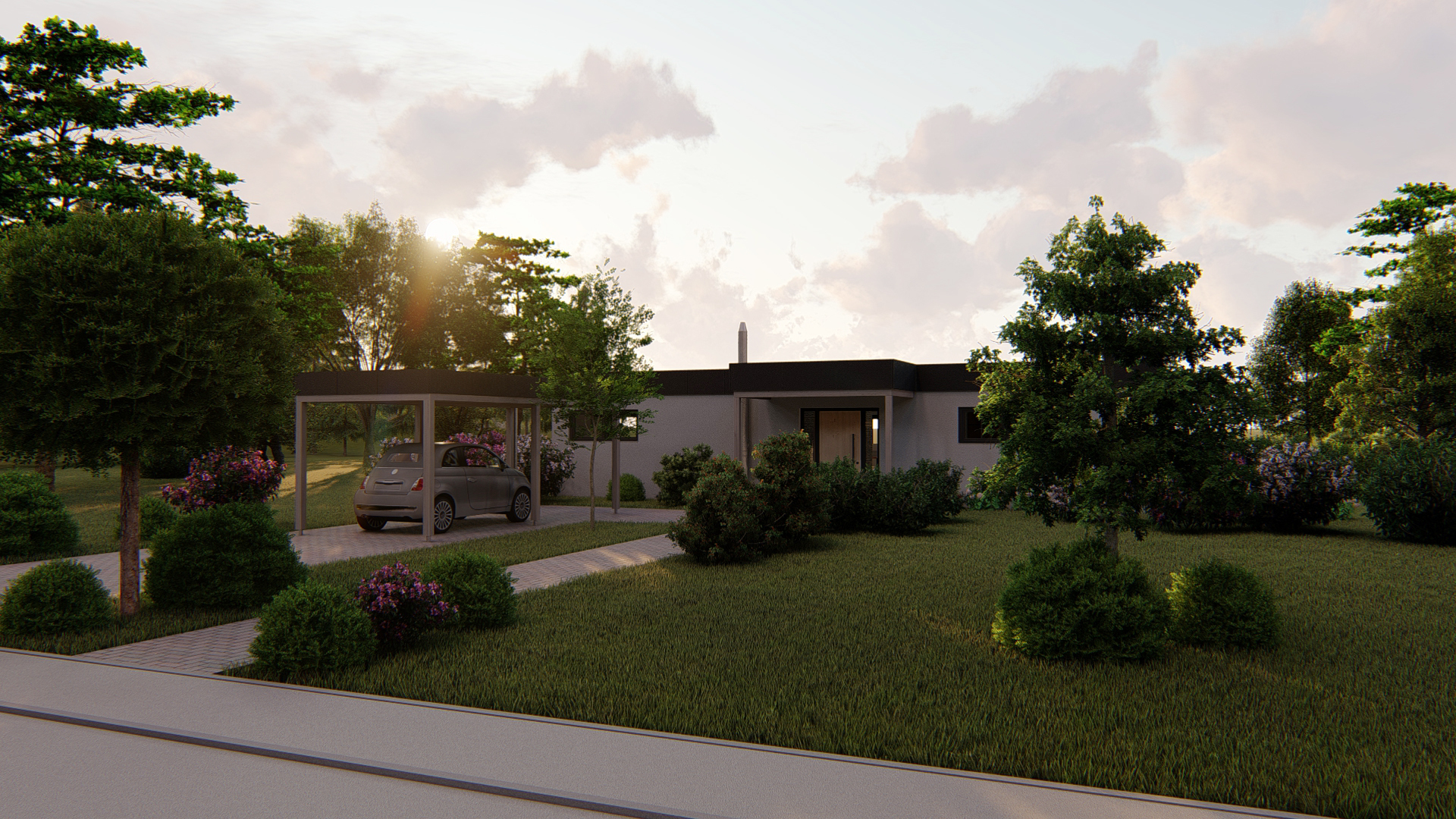 """My """"Little Vacation House"""" - Modeling and Rendering"""