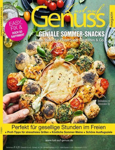 Cover: Lust auf Genuss Magazin Juli No 07 2021