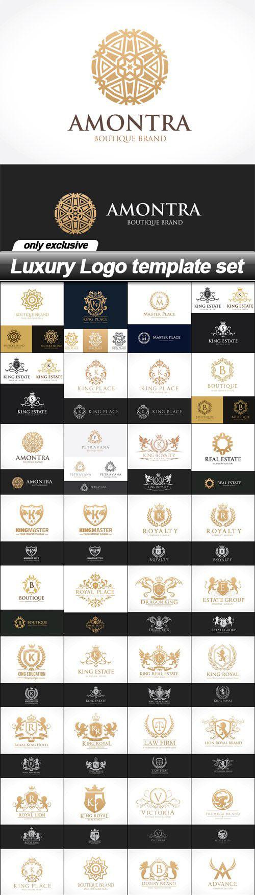 Luxury Logo vector template set – 36 EPS