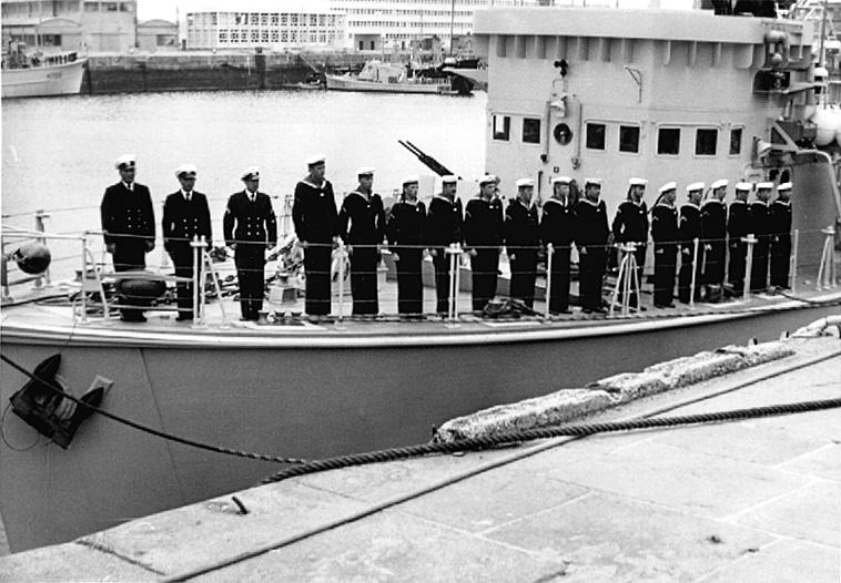 Démineur Mercure classe de la Federal Navy 1: 250 M1254-indienst-back-czjjfv