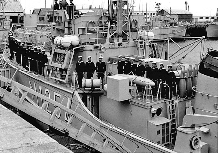 Démineur Mercure classe de la Federal Navy 1: 250 M1254-indienst-cherbodhjzn