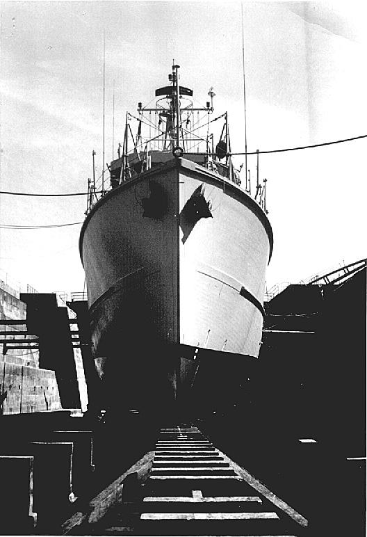 Démineur Mercure classe de la Federal Navy 1: 250 M1254-trockendock1djg5