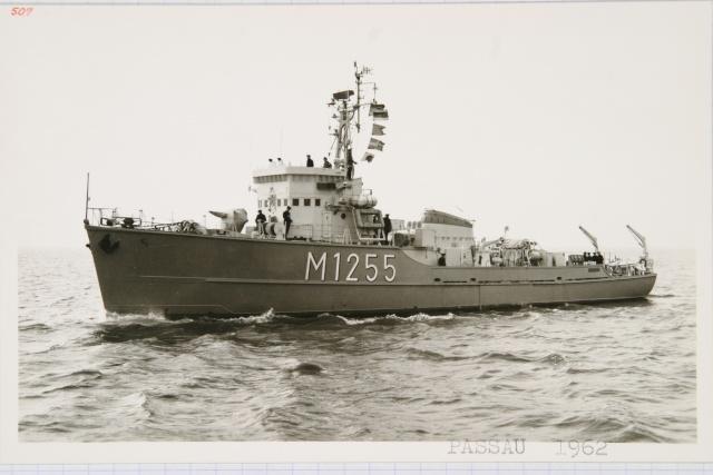 Démineur Mercure classe de la Federal Navy 1: 250 M1255passau1962utj3j