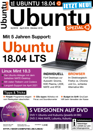 Ubuntu  Spezial Magazin April-Oktober No 02 2018