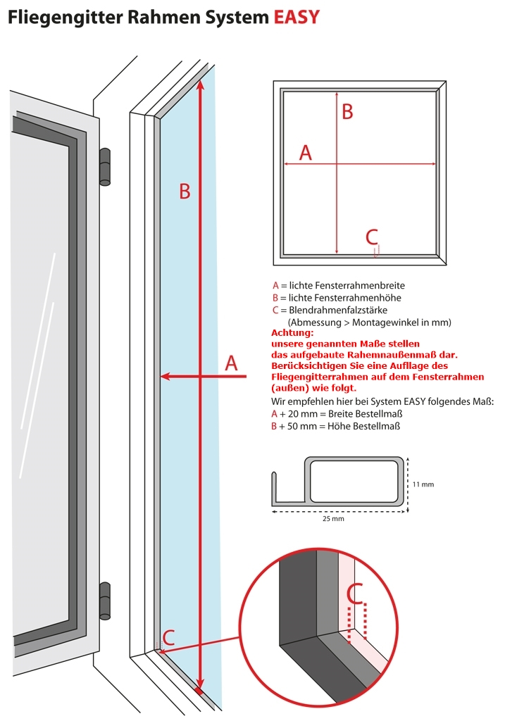 Gut bekannt Fliegengitter für Fenster Alu Rahmen Insektenschutz Gitter selber HS78