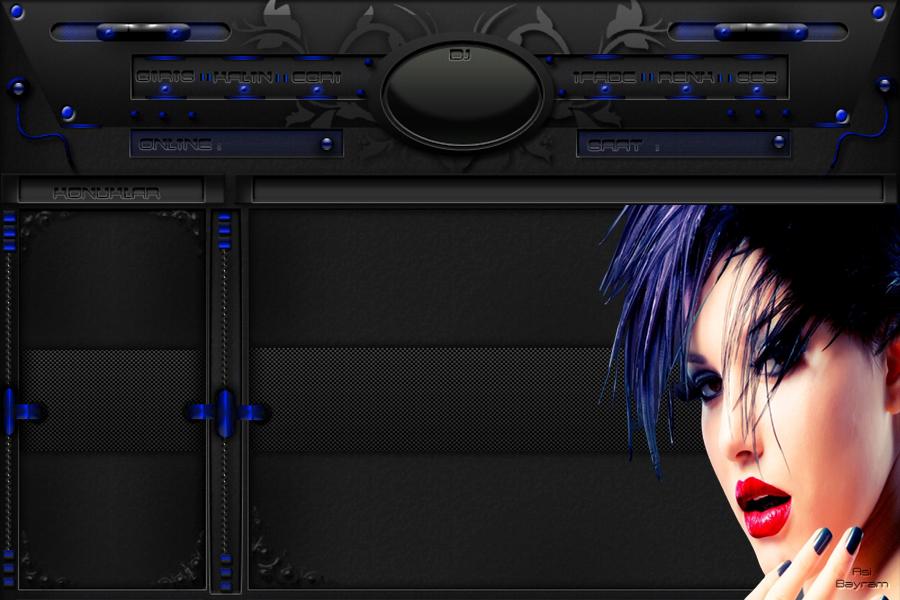 Mavi Sacli Bayan Tema