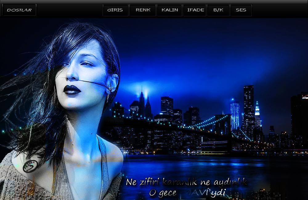Maviydi Gece Bayan Tema