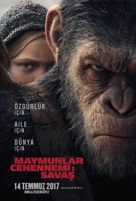 Maymunlar Cehennemi: Savaş (2017) Film İndir