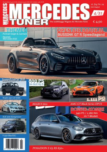 Cover: Mercedes Tuner -Magazin No 04 Juli-August 2021