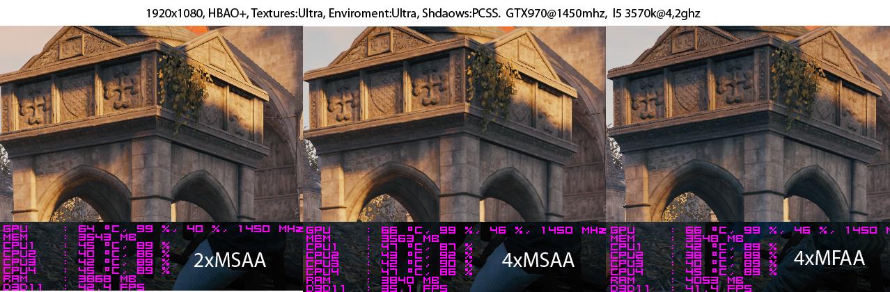 1080p 4xMSAA fullscreen · 1080p 2xMSAA fullscreen