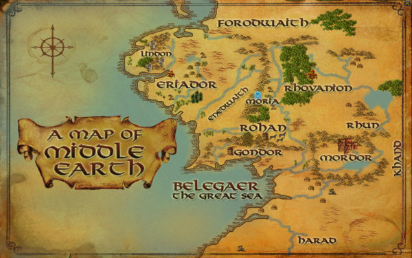 New Map of Middleearth for lotro?