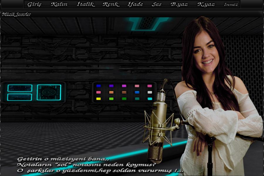 Mikrofonlu Bayan Tema