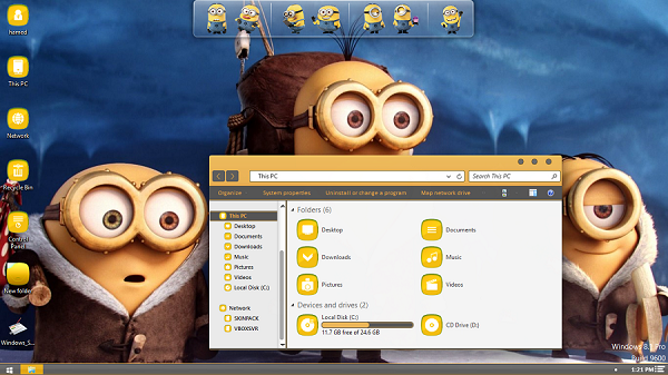 Minions SkinPack Windows 7-8-8.1 Theme