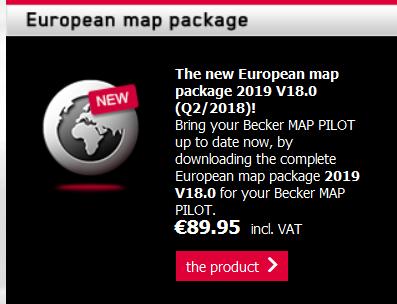 Becker MAP PILOT Europe Map Package 2018/2019 V17 0 [Q4/2017