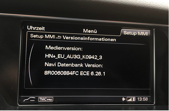audi mmi 3g high plus maps 2018 6 26 1 aktivators firmware rh gpsurl com Audi MMI 2G Audi MMI Software Version
