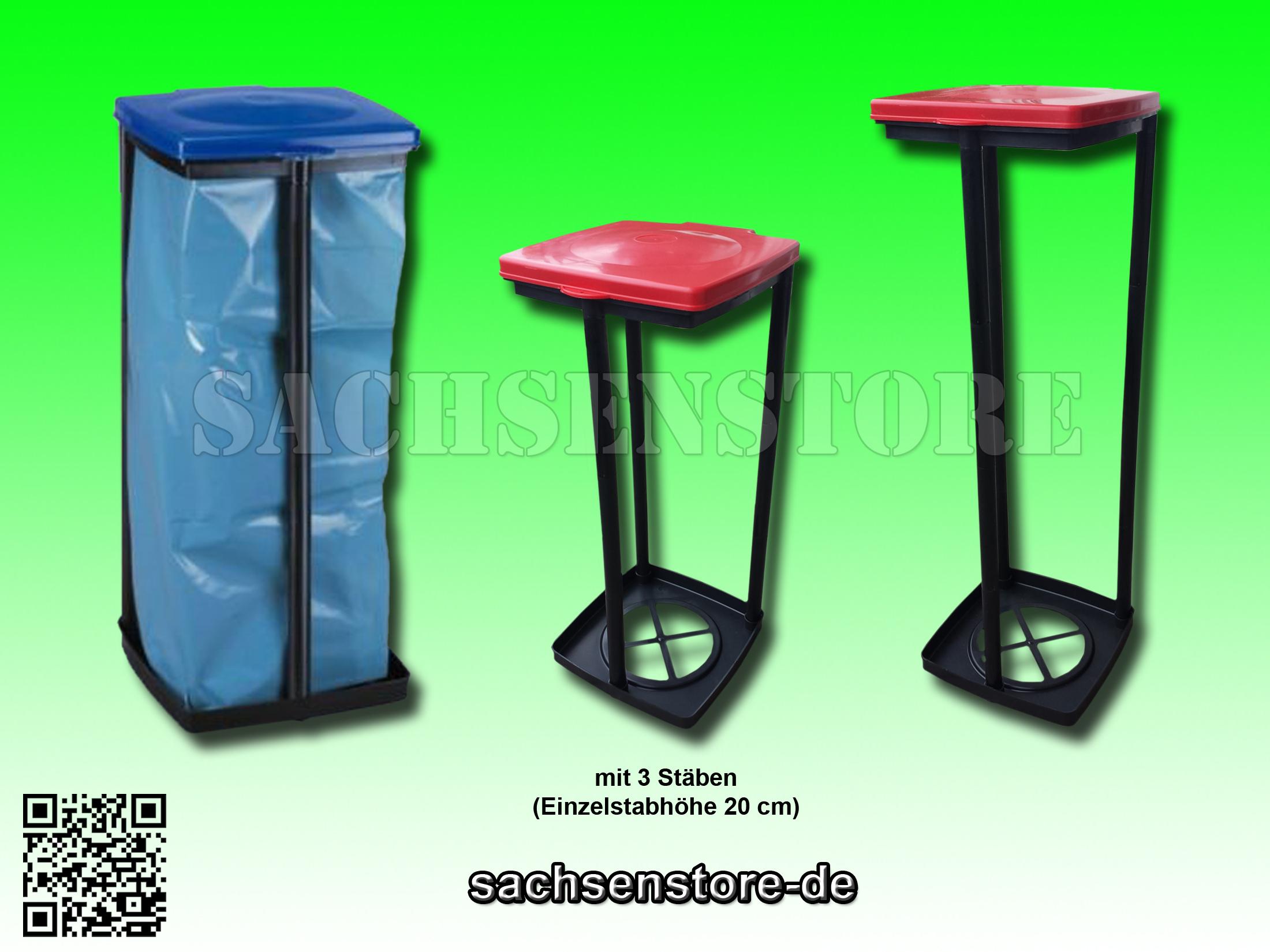 m llsackst nder f r gelben sack llt mit deckel in rot blau ebay. Black Bedroom Furniture Sets. Home Design Ideas