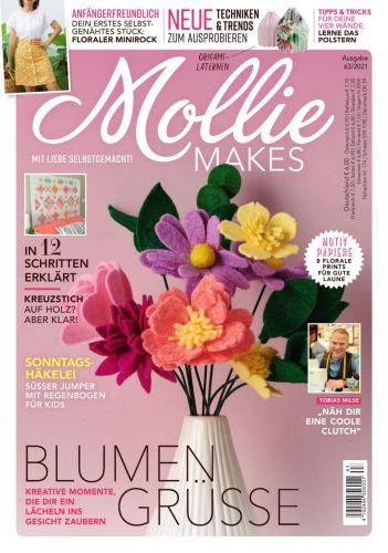 Cover: Mollie Makes Magazin No 63 Juni 2021